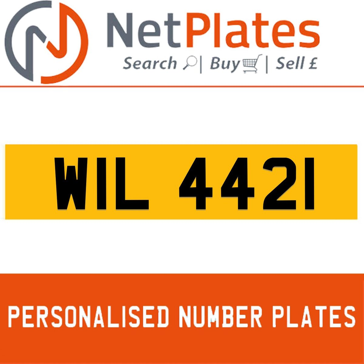 1900 WIL 4421 PERSONALISED PRIVATE CHERISHED DVLA NUMBER PLATE For Sale (picture 1 of 5)