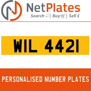 WIL 4421 PERSONALISED PRIVATE CHERISHED DVLA NUMBER PLATE