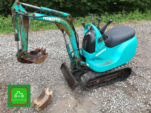2000 KOMATSU PC01 SMALLEST 360 DIGGER MAUFACTURED SEE VIDEO SOLD