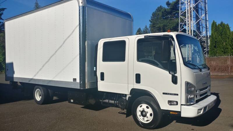2018 Isuzu NPR with 16 Foot Box Lift~gate 5 foot w Warranty For Sale (picture 1 of 6)
