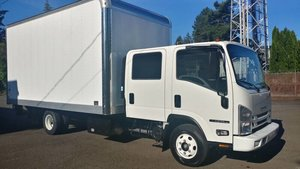 2018  Isuzu NPR with 16 Foot Box Lift~gate 5 foot w Warranty