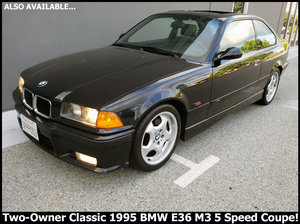 1995 BMW M3 Coupe 5 speed 153k miles Clean Black $11.9k For Sale