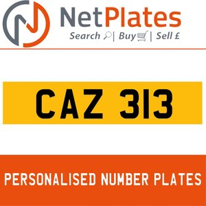1900 CAZ 313 Private Number Plate from NetPlates Ltd For Sale
