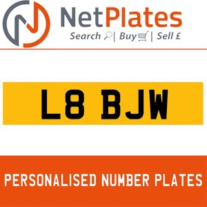 L88 BJW Private Number Plate from NetPlates Ltd