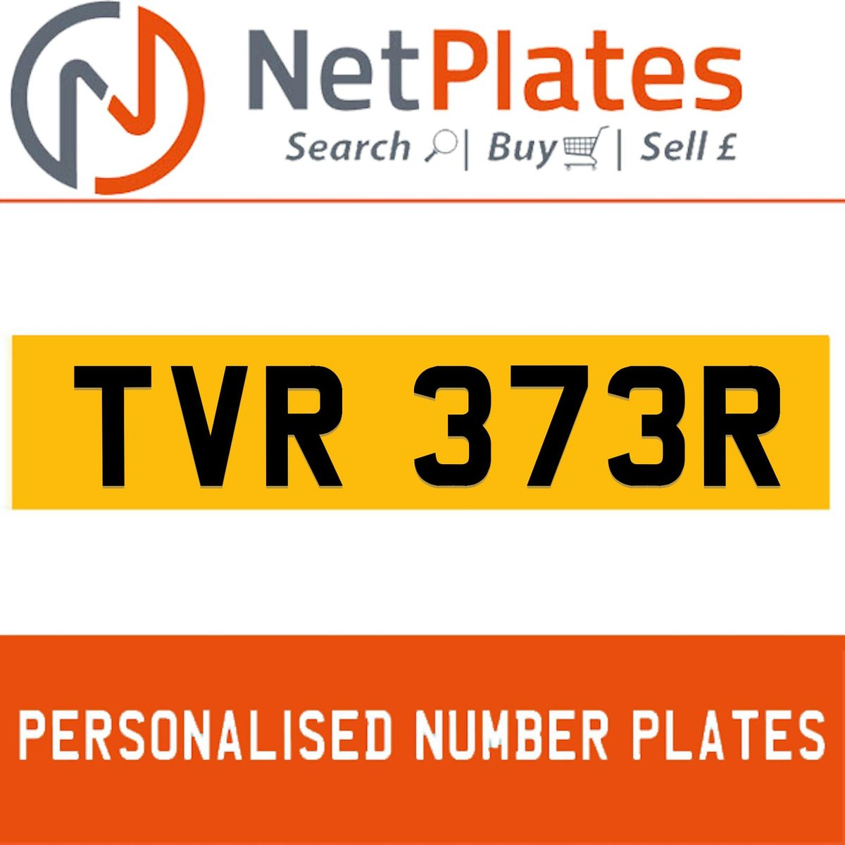 1900 TVR 373R Private Number Plate from NetPlates Ltd For Sale (picture 1 of 5)