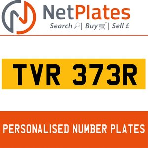 TVR 373R Private Number Plate from NetPlates Ltd