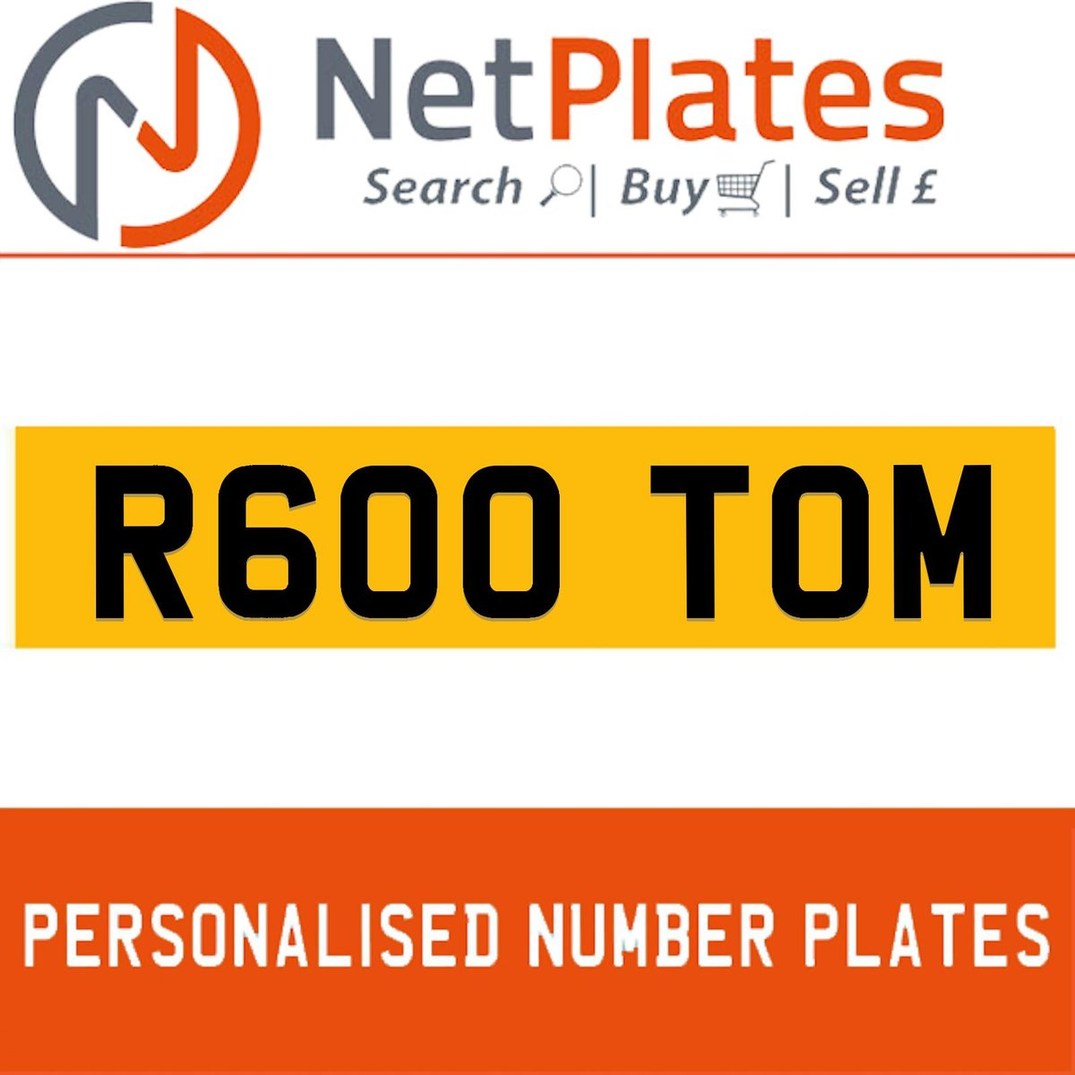 1900 R600 TOM Private Number Plate from NetPlates Ltd For Sale (picture 1 of 5)