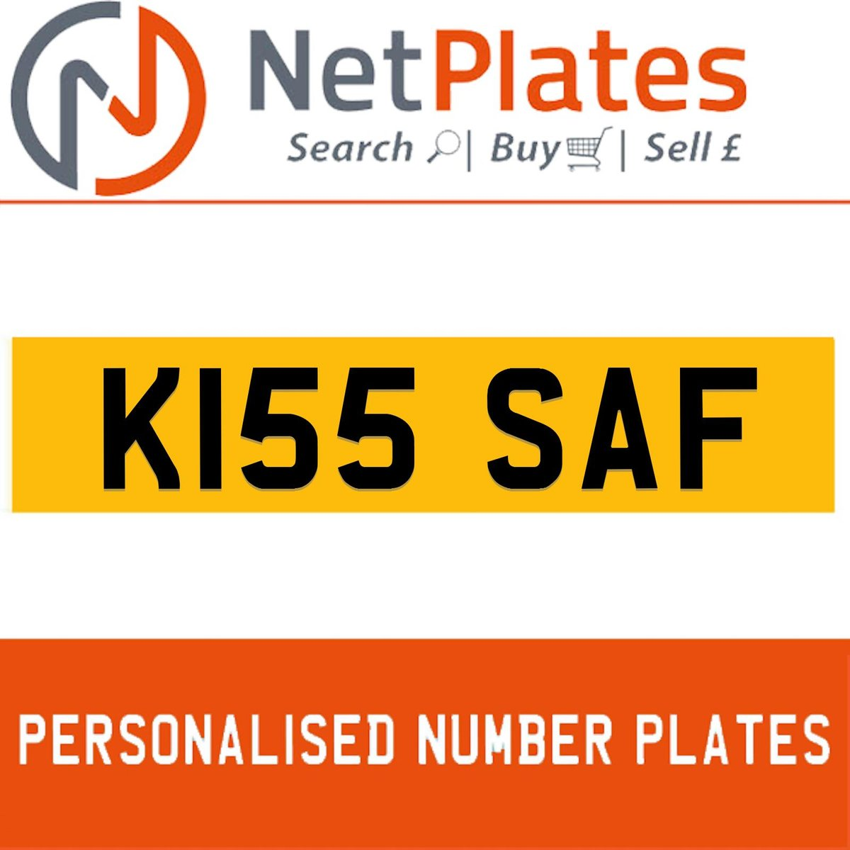 1900 K155 SAF Private Number Plate from NetPlates Ltd For Sale (picture 1 of 5)