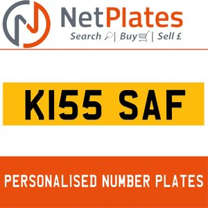 K155 SAF Private Number Plate from NetPlates Ltd