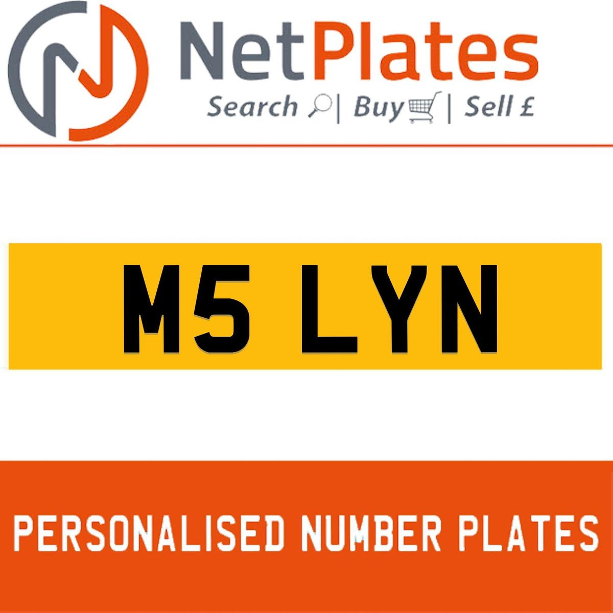 1900 M5 LYN Private Number Plate from NetPlates Ltd For Sale (picture 1 of 5)
