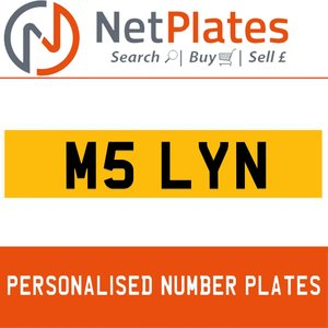 M5 LYN Private Number Plate from NetPlates Ltd