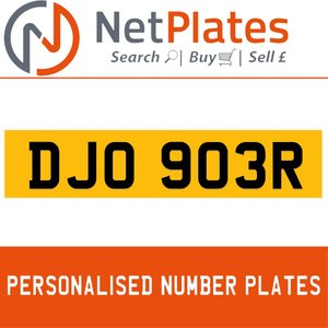 1900 DJO 903R Private Number Plate from NetPlates Ltd For Sale