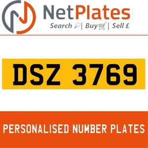 DSZ 3769 Private Number Plate from NetPlates Ltd