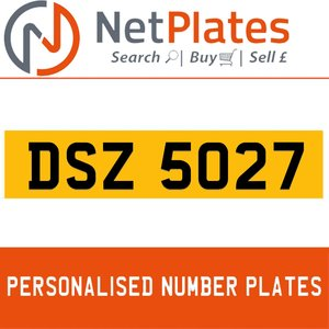 1900 DSZ 5027 Private Number Plate from NetPlates Ltd For Sale