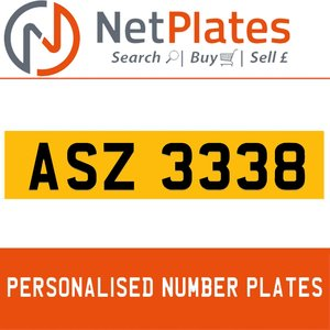 ASZ 3338 Private Number Plate from NetPlates Ltd