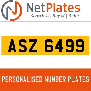 1900 ASZ 6499 Private Number Plate from NetPlates Ltd For Sale