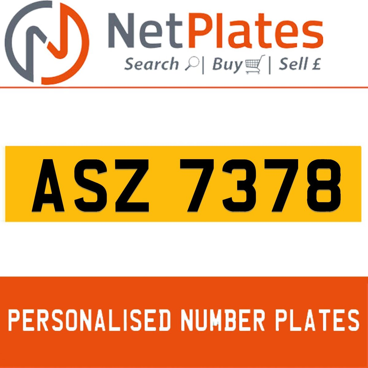 1900 ASZ 7378 Private Number Plate from NetPlates Ltd For Sale (picture 1 of 5)