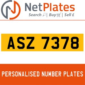 ASZ 7378 Private Number Plate from NetPlates Ltd