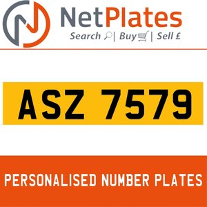 1900 ASZ 7579 Private Number Plate from NetPlates Ltd For Sale