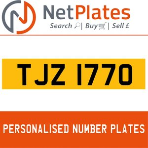 1900 TJZ 1770 Private Number Plate from NetPlates Ltd For Sale
