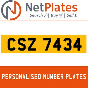 1900 CSZ 7434 Private Number Plate from NetPlates Ltd For Sale