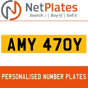 1900 AMY 470Y Private Number Plate from NetPlates Ltd For Sale