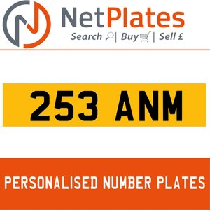 1900 253 ANM Private Number Plate from NetPlates Ltd For Sale