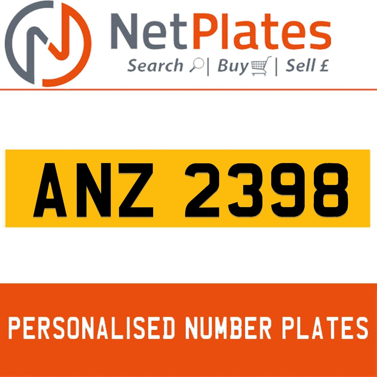 1900 ANZ 2398 Private Number Plate from NetPlates Ltd For Sale (picture 1 of 5)