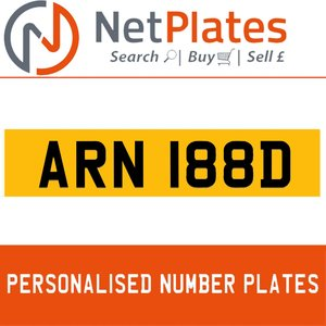 1900 ARN 188D Private Number Plate from NetPlates Ltd For Sale