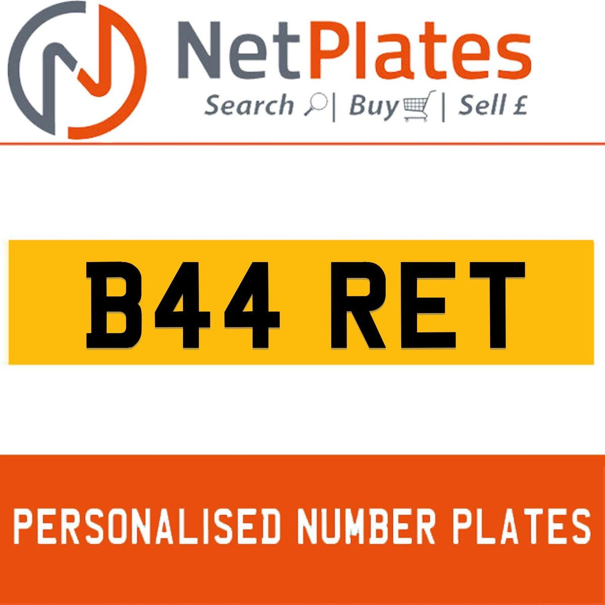 1900 B44 RET Private Number Plate from NetPlates Ltd For Sale (picture 1 of 5)