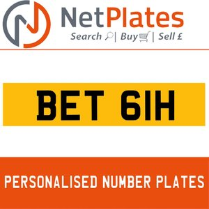 1900 BET 61H Private Number Plate from NetPlates Ltd For Sale