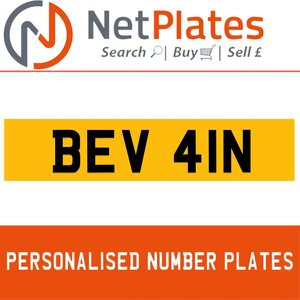 1900 BEV 41N Private Number Plate from NetPlates Ltd For Sale