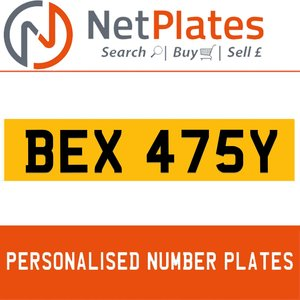 1900 BEX 475Y Private Number Plate from NetPlates Ltd For Sale