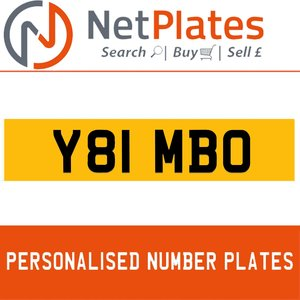 1900 Y81 MBO Private Number Plate from NetPlates Ltd For Sale