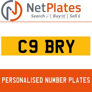 1900 C9 BRY Private Number Plate from NetPlates Ltd For Sale