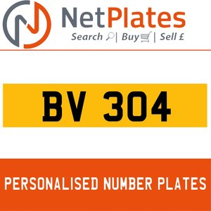 1900 BV 304 Private Number Plate from NetPlates Ltd For Sale