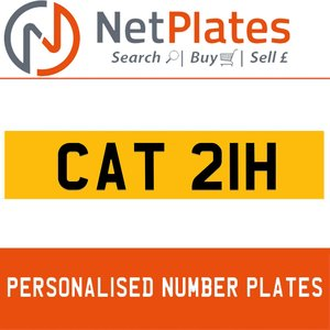 1900 CAT 21H Private Number Plate from NetPlates Ltd For Sale