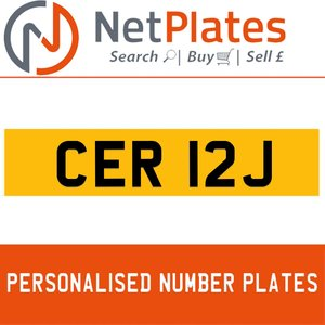 1900 CER 12J Private Number Plate from NetPlates Ltd For Sale