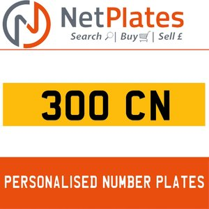 1900 300 CN Private Number Plate from NetPlates Ltd For Sale