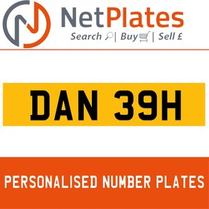 1900 DAN 39H Private Number Plate from NetPlates Ltd For Sale