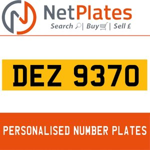 1900 DEZ 9370 Private Number Plate from NetPlates Ltd For Sale