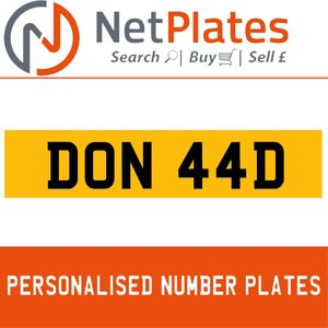 1900 DON 44D Private Number Plate from NetPlates Ltd For Sale