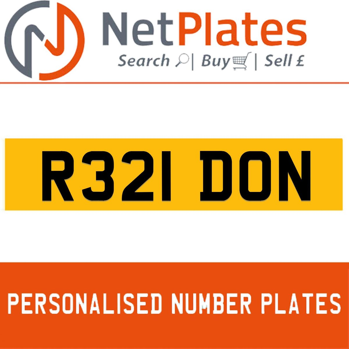 1900 R321 DON Private Number Plate from NetPlates Ltd For Sale (picture 1 of 5)