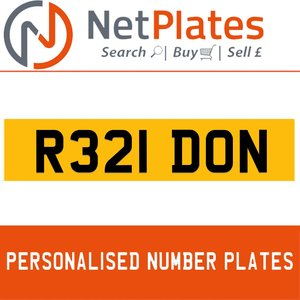 1900 R321 DON Private Number Plate from NetPlates Ltd For Sale