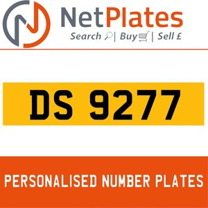 DS 9277 Private Number Plate from NetPlates Ltd