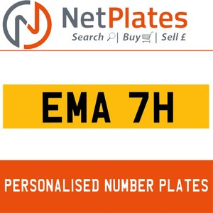 EMA 7H Private Number Plate from NetPlates Ltd
