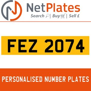 1900 FEZ 2074 Private Number Plate from NetPlates Ltd For Sale