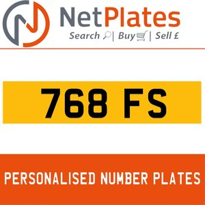 768 FS Private Number Plate from NetPlates Ltd