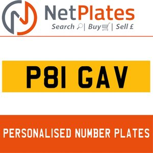 P81 GAV Private Number Plate from NetPlates Ltd