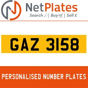 1900 GAZ 3158 Private Number Plate from NetPlates Ltd For Sale